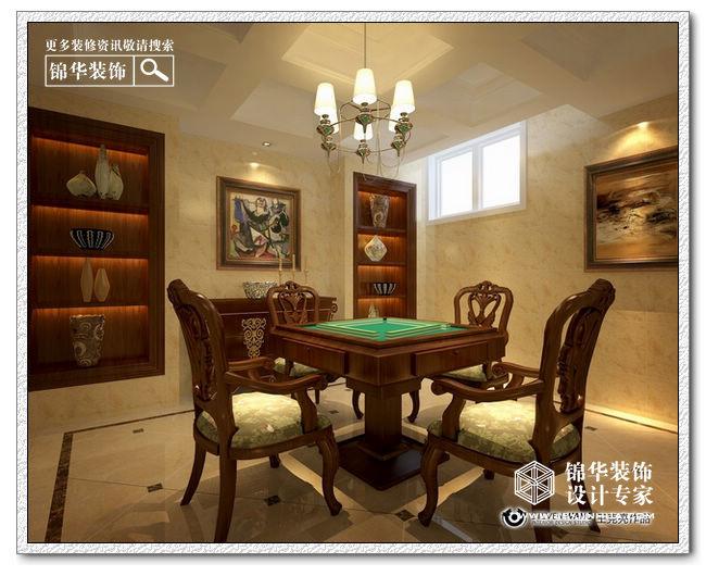 双拼别墅客厅美式乡村装修设计图片